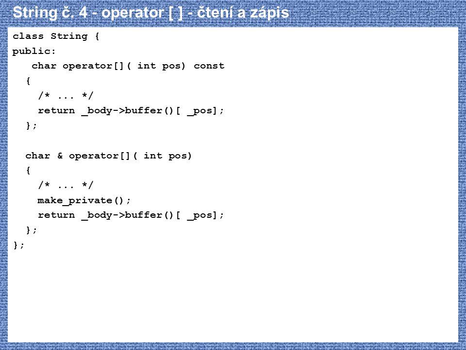 String č. 4 - operator [ ] - čtení a zápis
